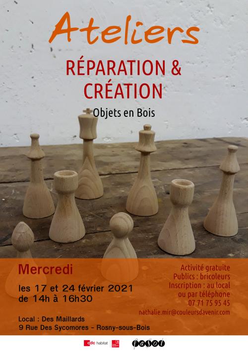 Ateliers Réparation et création Objets en bois