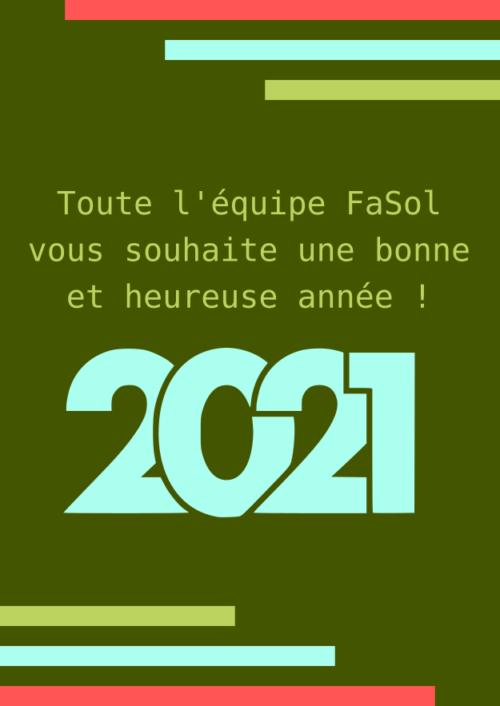 Bonne Annéee 2021